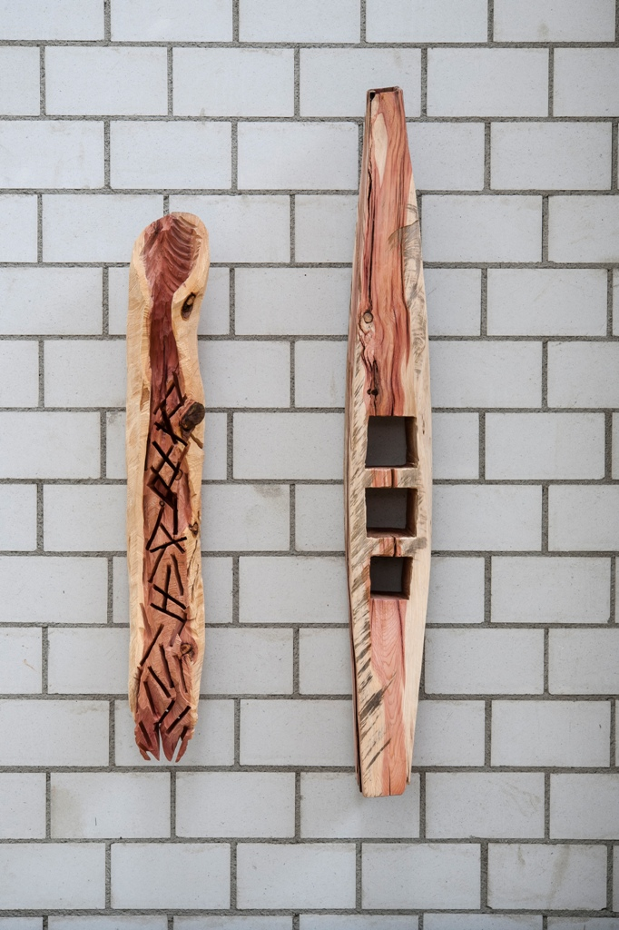 Holzobjekte Mammutbaum Cham, 2017