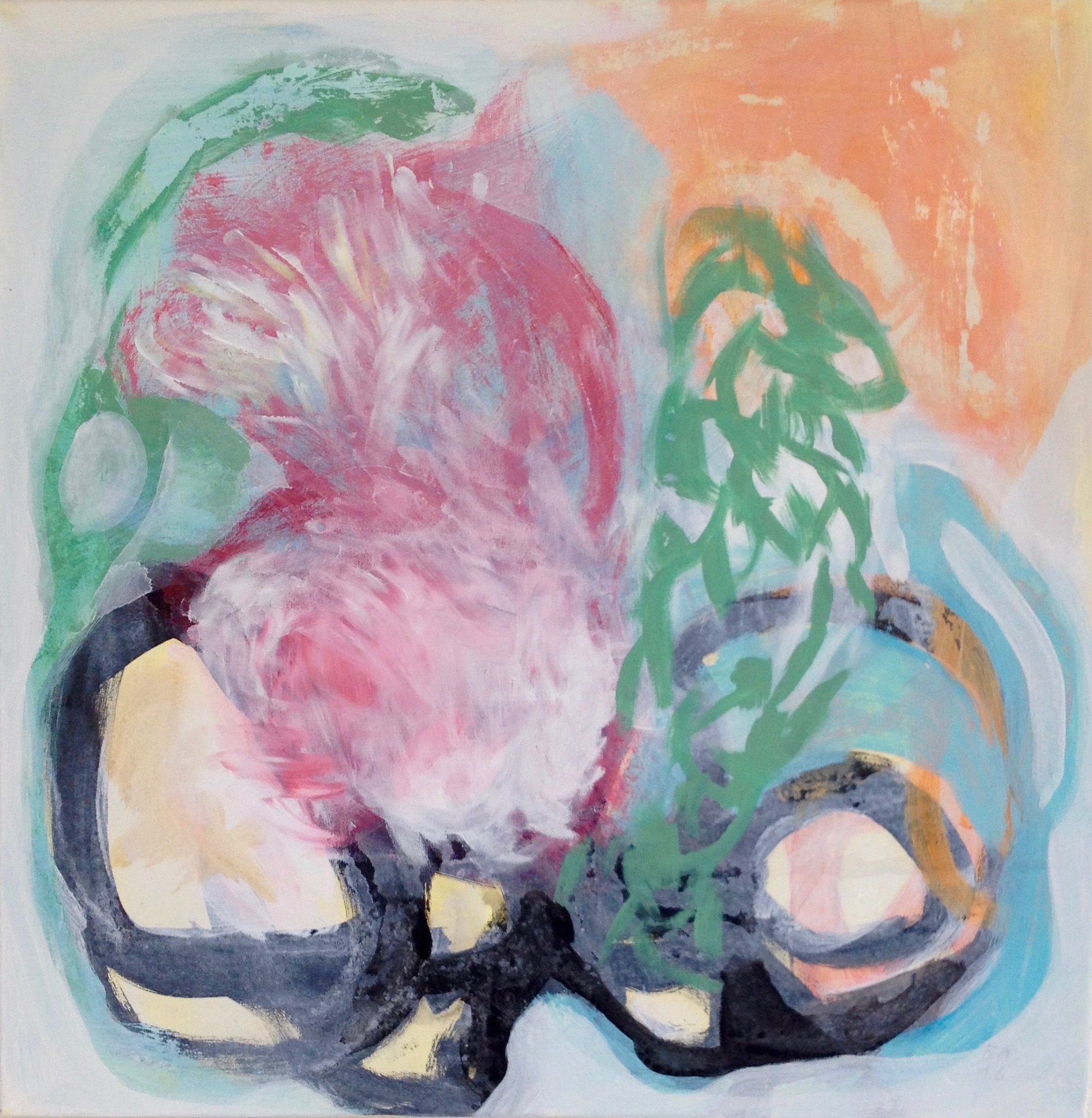 Brigitt Andermatt, Ohne Titel, Acryl auf Leinwand, 2018
