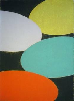 Michaël Berkhemer, Ohne Titel. Serigrafie, 1995