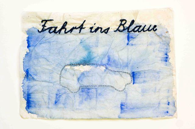 Eva Zwimpfer, Fahrt ins Blaue, Mixed Media