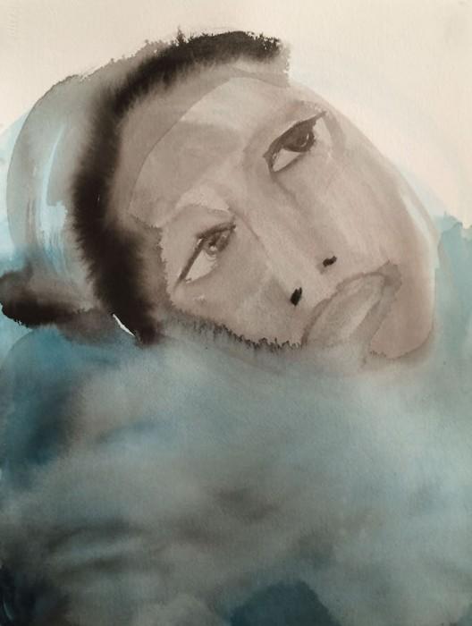 Judith Glaus, Lost Generation, Tusche, Aquarell, Mischtechnik