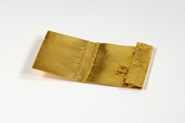Zündholzbriefchen, vergoldet, Unikat